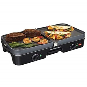 Hamilton Beach 3 in 1 Electric Smokeless Griddle