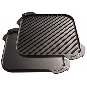 Lodge LSRG3 Cast Iron Single-Burner Reversible Griddle