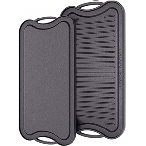 Utopia Kitchen 17 x 10 inches Cast Iron Reversible Griddle