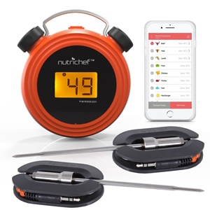 Nutrichef Smart Bluetooth Meat Thermometer Wireless Remote