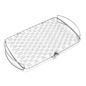 WEBER 6471 ORIGINAL STAINLESS-STEEL FISH BASKET, LARGE
